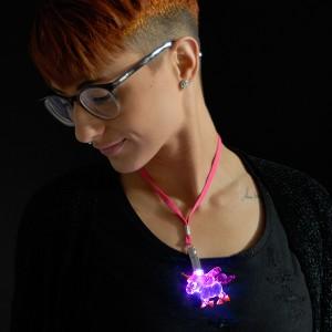 "LED Power Light Halskette ""Einhorn"""