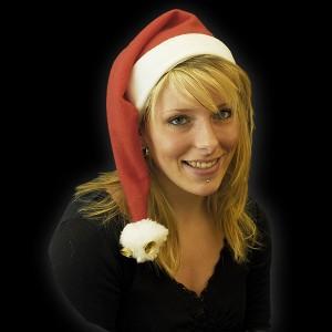 """Weihnachtsmütze  """"60 cm 2 Bommel & 2 Glocken"""""""