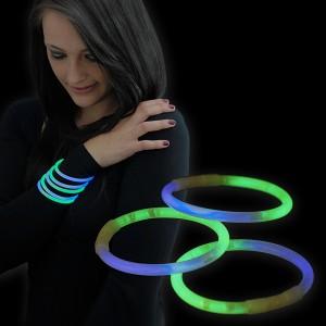 "Miracle Of The Light / Knick Armband (20cm) ""Bicolor Blau/Grün"""