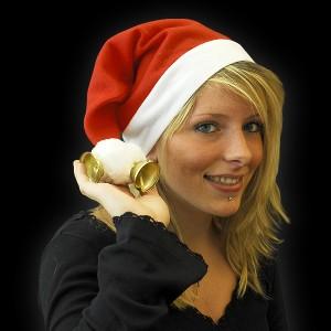 """Weihnachtsmütze """"2 Große Glocken & 2 Große Bommel"""""""