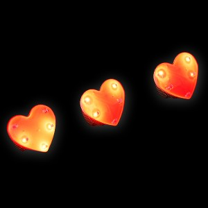 "Magnetblinker ""Herz 5 Rote LEDs"""