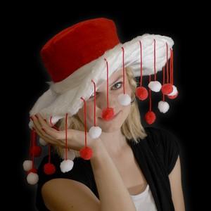 Weihnachtshut Mit Christbaumkugeln