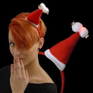"""Weihnachts Mini Mütze """"2 Bommel & 2 Glocken"""""""