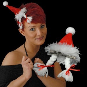 """Weihnachts Mini Mütze """"Zopfmütze"""""""