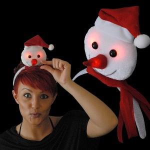 """Weihnachts Haarreif """"Mini-Schneemann"""""""