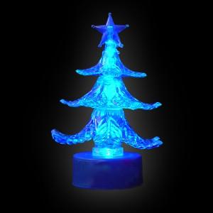 "LED Mini-Tannenbaum ""Acryl Blau"""