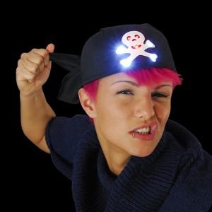 "LED Piraten Bandana ""Schwarzbart"""
