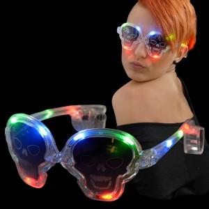 "LED Halloween Leuchtbrille ""Totenkopf"""