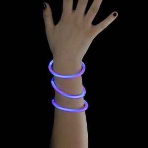 """Miracle Of The Light / Knick Armband (20cm) """"Twister Rot/Weiss/Bblau"""""""