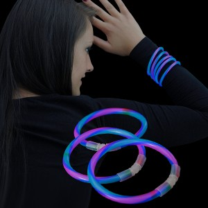 "Miracle Of The Light / Knick Armband (20cm) ""Twister Rot/Grün/Blau"""