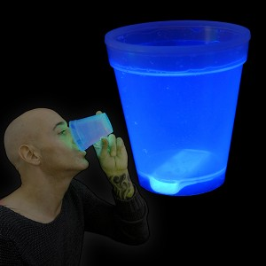 "Miracle Of The Light / Knick Leuchtbecher ""250ml Blau"""