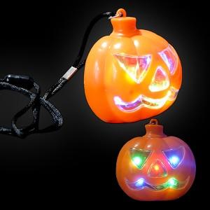 "LED Halloween Halskette ""Kürbis"""
