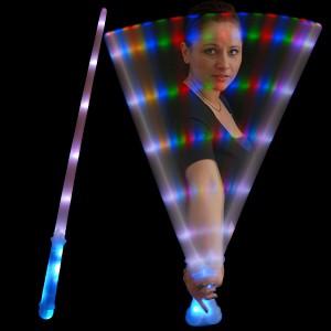 "LED Neonschwert ""Strobo-Regenbogen"""