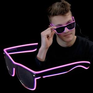 """EL Neon Brille """"Beam Pink"""""""