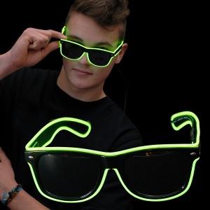"""EL Neon Brille """"Beam Grün"""""""