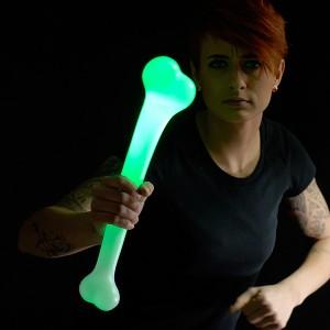 "LED Leuchtknochen ""Grün"""
