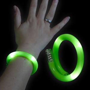 "LED Wickelarmband ""Grün"""