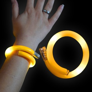 "LED Wickelarmband ""Gelb"""