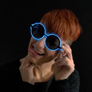 "EL Neon Brille Disc ""Blau"""