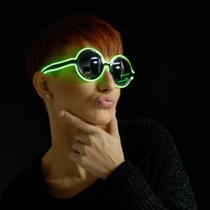 """EL Neon Brille Disc """"Grün"""""""