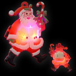 """LED Gummi Anstecker """"Weihnachtsmann"""""""