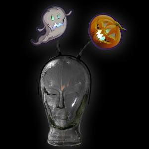 """LED Halloween Haarreif """"Geist-Kürbis"""""""