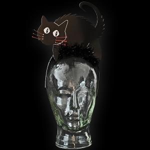 """LED Halloween Haarreif """"Schwarze Katze"""""""