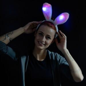 "LED Haarreif Plüsch Bunny ""Pink"""