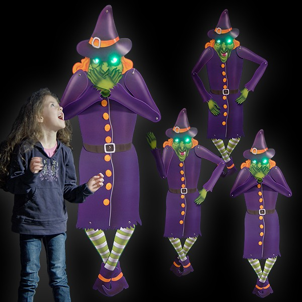 "LED Halloween Decoration Figurine ""Hilde"""