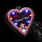 "LED Gingerbread Heart ""Fohes Fest"""