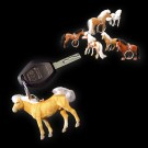 Flocked Horse Keychain 10 cm