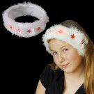 """Santa Headband """"Cloudlet With 5 Red Stars"""""""