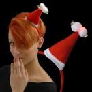 "Christmas Mini Hat ""2 Pompoms/2 Bells"""