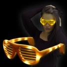 "LED Glasses ""Neon Pogo Yellow"""