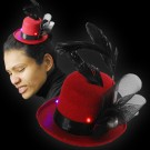 """LED Maxi Stovepipe Hat """"Marlene Red"""""""
