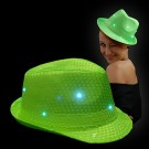 "LED Sequin Hat ""Neon Green"""